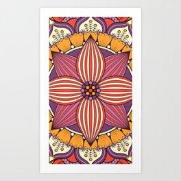 Mandala orchid Art Print
