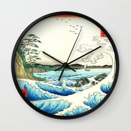 The Great Wave. The Sea At Satta Wall Clock