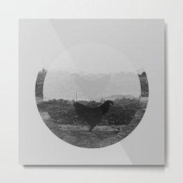 creatura avium (rooster in peru)  Metal Print
