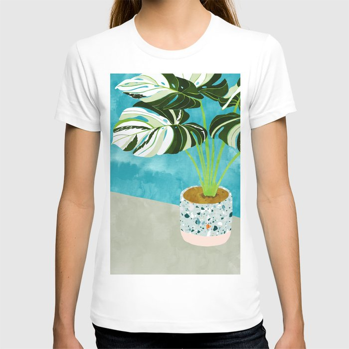 Variegated Monstera #tropical #painting #nature T-shirt