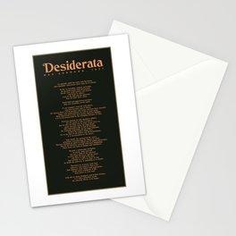 Desiderata by Max Ehrmann - Typography Print 03 Stationery Cards