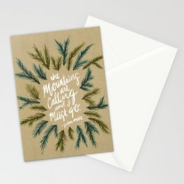 Mountains Calling – Kraft Stationery Cards
