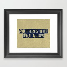 Nothing But The Blues Framed Art Print