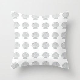 Light Grey Seashell Throw Pillow