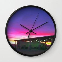 Gasoline Sky Wall Clock