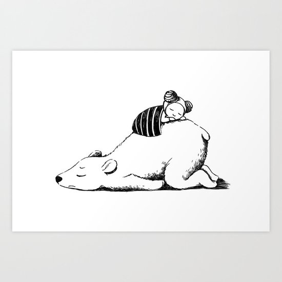 Polar Sleep Art Print