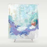 snail Shower Curtains featuring Snail by ARTION