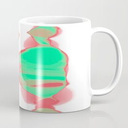 fuzzy red and green on white Coffee Mug