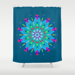 Good Luck Mandala Shower Curtain