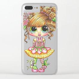 Sherri Baldy My Besties Sugar Plum Treats Big Eyed Art Clear iPhone Case