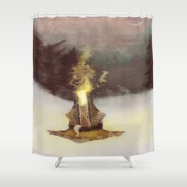 Product of the mind Shower Curtain