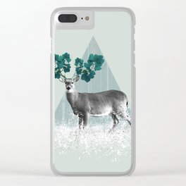 Deer, Stag, Forest Animal, Woodlands Clear iPhone Case