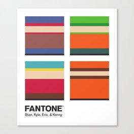 S. Park - FANTONE® Four Collection Canvas Print