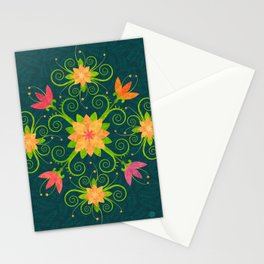 Nordic Traditional Floral (pattern) Stationery Cards