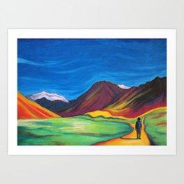 Mendoza walking Art Print