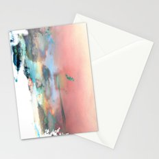 Clouds like Splattered Watercolor Stationery Cards