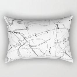 paradise in pencil Rectangular Pillow