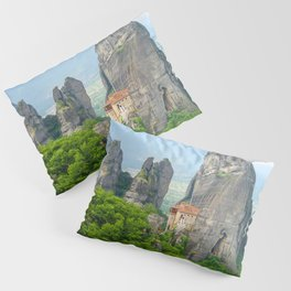 Christian Orthodox monastery of Meteora, Greece Pillow Sham