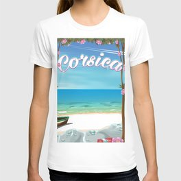 corsica travel poster T-shirt