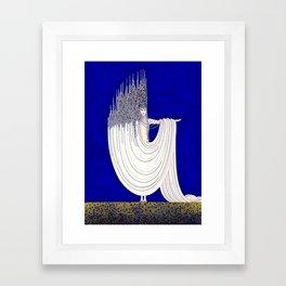 """North Sea"" Art Deco Design Framed Art Print"
