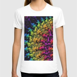 Fractal Sun Rays in Colors T-shirt