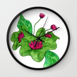 Pink Lilly Wall Clock