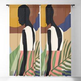 Tropical Girl 2 Blackout Curtain