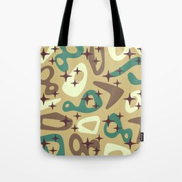 Retro Mid Century Modern Abstract Composition 940 Tote Bag