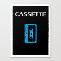 cassette Canvas Prints featuring Cassette by Bruce Young