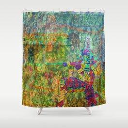 Funky Warrior Shower Curtain