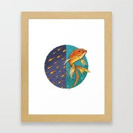 Goldfish & Goldfish School Framed Art Print