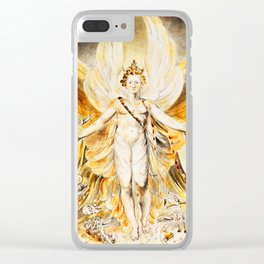 SATAN IN HIS ORIGINAL GLORY - WILLIAM BLAKE Clear iPhone Case