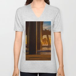 The End of the Pier Unisex V-Neck