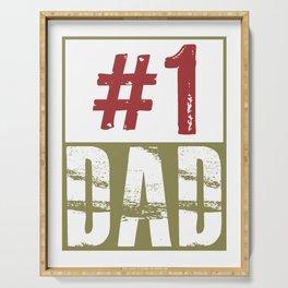 #1 dad Serving Tray