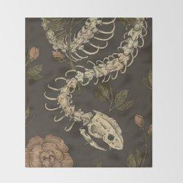 Snake Skeleton Throw Blanket