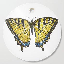Yellow Swallowtail Butterfly Cutting Board