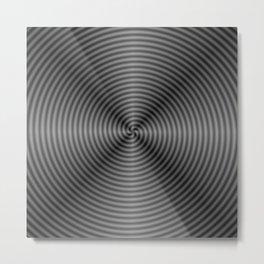 Spiral Quartered in Monochrome Metal Print
