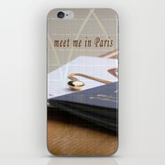 meet me in Paris iPhone & iPod Skin