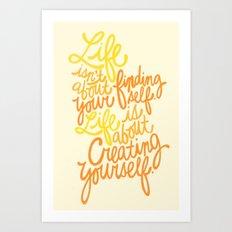 George Bernard Shaw (Orange) Art Print