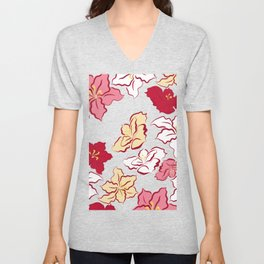 Poinsettia pattern - 4 colors Unisex V-Neck