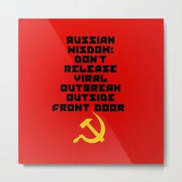 Russian Wisdom Metal Print