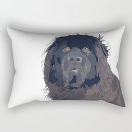 Newfoundland Dog Rectangular Pillow
