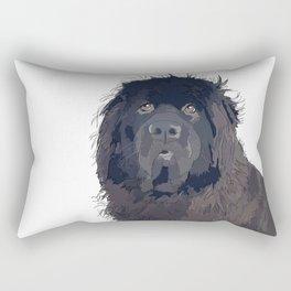 Newfoundland Dog (black) Rectangular Pillow