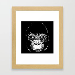 Head of a gorilla Framed Art Print