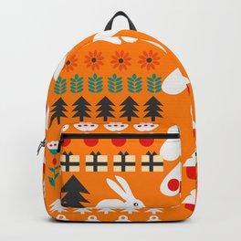 Sweet Christmas bunnies Backpack