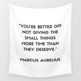 MARCUS AURELIUS  Stoic Philosophy Quote Wall Tapestry