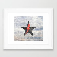BlackStarMan (waiting in the sky) Framed Art Print