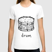 drum T-shirts featuring drum by Isaac Collmer