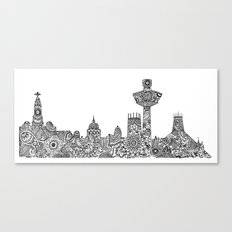 Liverpool City Skyline Canvas Print