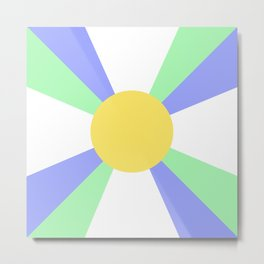 Retro Sun Rays - Jewel Tones Metal Print